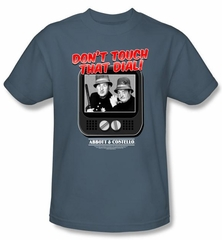 Abbott & Costello Kids Shirt Funny That Dial Youth Slate Tee T-shirt