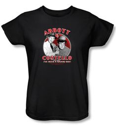 Abbott & Costello Ladies Shirt Funny Bad Boy Black Tee T-shirt