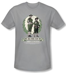Abbott & Costello Shirt Be All You Can Be Silver Slim Fit Tee T-shirt