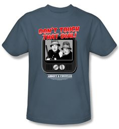 Abbott & Costello Shirt Funny That Dial Adult Slate Tee T-Shirt
