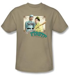 Abbott & Costello Shirt Funny Who's On First Adult Sand Tee T-Shirt