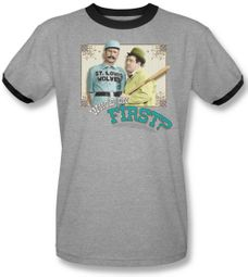 Abott & Costello Adult Ringer Tee T-Shirt