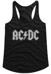 AC/DC Juniors Tank Top Band Logo Black Racerback