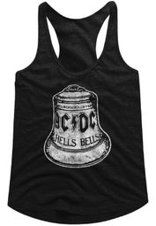 AC/DC Juniors Tank Top Hells Bells Black Racerback