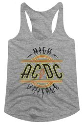 AC/DC Juniors Tank Top High Voltage Athletic Heather Racerback