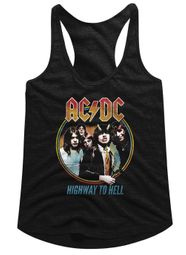 AC/DC Juniors Tank Top Highway To Hell Black Racerback