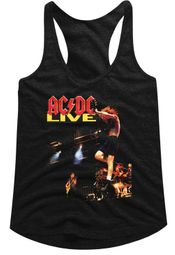 AC/DC Juniors Tank Top Live Black Racerback