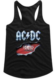 AC/DC Juniors Tank Top Razor's Edge Black Racerback