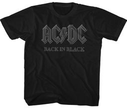 AC/DC Kids Shirt Back In Black Black Youth T-Shirt