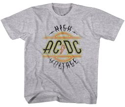 AC/DC Kids Shirt High Voltage Athletic Heather T-Shirt