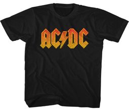 AC/DC Kids Shirt Orange Band Logo Black T-Shirt