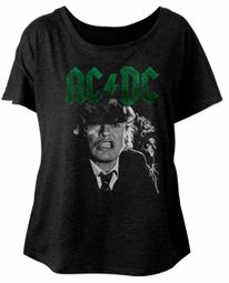 AC/DC Ladies Shirt Angus Growl Dolman Black T-Shirt