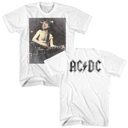 AC/DC Shirt Angus Young White T-Shirt