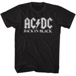 AC/DC Shirt Back In Black Black T-Shirt