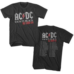 AC/DC Shirt Back In Black UK Tour 80 Black T-Shirt