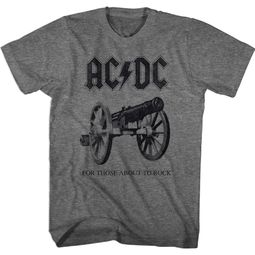 AC/DC Shirt For Those About To Rock Athletic Heather T-Shirt
