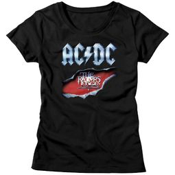 AC/DC Shirt Juniors Razor's Edge Black T-Shirt