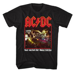 AC/DC Shirt Rock And Roll Ain't Noise Pollution Black T-Shirt