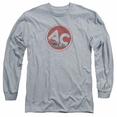 AC Delco Long Sleeve Shirt Fire Ring Spark Plugs Athletic Heather Tee T-Shirt
