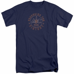 AC Delco Shirt Spark Plugs Victory Tall Navy Blue T-Shirt