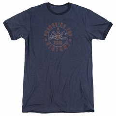 AC Delco Spark Plugs Victory Navy Blue Ringer Shirt