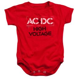 ACDC Baby Romper High Voltage Red Infant Babies Creeper