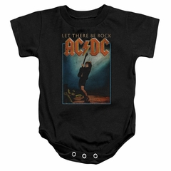 ACDC Baby Romper Let There Be Rock Black Infant Babies Creeper