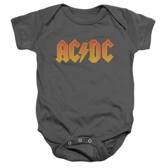 ACDC Baby Romper Logo Charcoal Infant Babies Creeper