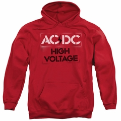 ACDC Hoodie High Voltage Red Sweatshirt Hoody