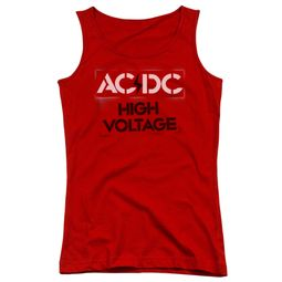 ACDC Juniors Tank Top High Voltage Red Tanktop