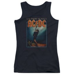 ACDC Juniors Tank Top Let There Be Rock Black Tanktop