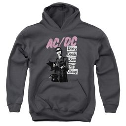ACDC Kids Hoodie Dirty Deeds Charcoal Youth Hoody