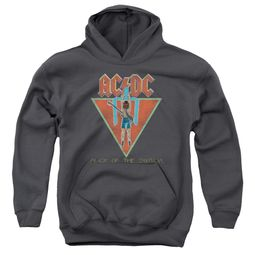 ACDC Kids Hoodie Flick Of The Switch Charcoal Youth Hoody