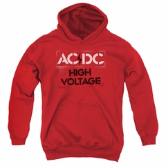 ACDC Kids Hoodie High Voltage Red Youth Hoody