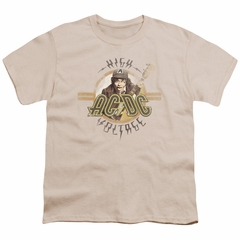 ACDC Kids Shirt High Voltage Cream T-Shirt