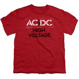 ACDC Kids Shirt High Voltage Red T-Shirt