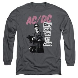 ACDC Long Sleeve Shirt Dirty Deeds Charcoal Tee T-Shirt