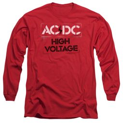ACDC Long Sleeve Shirt High Voltage Red Tee T-Shirt