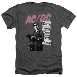 ACDC Shirt Dirty Deeds Heather Charcoal T-Shirt