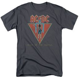 ACDC Shirt Flick Of The Switch Charcoal T-Shirt