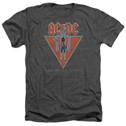 ACDC Shirt Flick Of The Switch Heather Charcoal T-Shirt