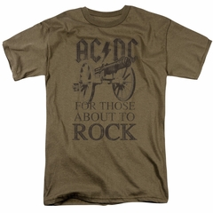 ACDC Shirt For Those About To Rock Safari Green T-Shirt