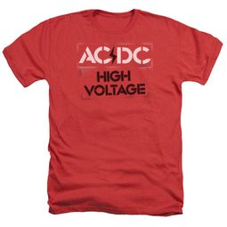 ACDC Shirt High Voltage Heather Red T-Shirt