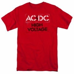 ACDC Shirt High Voltage Red T-Shirt