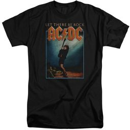 ACDC Shirt Let There Be Rock Black Tall T-Shirt