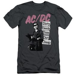 ACDC Slim Fit Shirt Dirty Deeds Charcoal T-Shirt