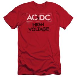 ACDC Slim Fit Shirt High Voltage Red T-Shirt