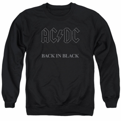 ACDC Sweatshirt Back In Black Adult Black Sweat Shirt