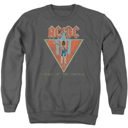 ACDC Sweatshirt Flick Of The Switch Adult Charcoal Sweat Shirt
