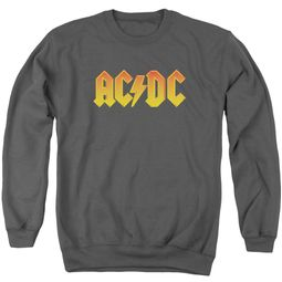 ACDC Sweatshirt Logo Adult Charcoal Sweat Shirt